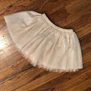 """Girls taupe skirt with silver """"glitter"""""""